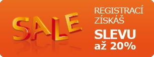 nakupuj registrovanej a nákupama získej slevu až 20%